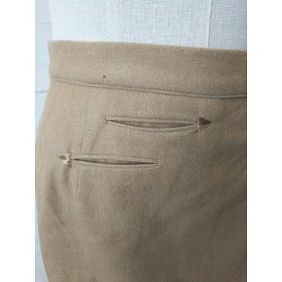 Tan Tailored Pencil Skirt by Evan Picone