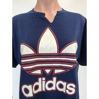Red, White and Blue Adidas Logo T-Shirt