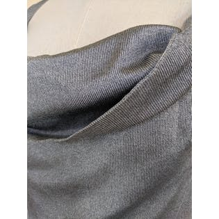 Slinky Silver Cowl Neck Top by Alexander Mqueen