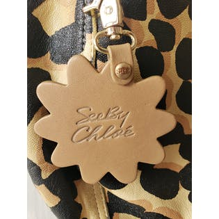 Black and Gold Cheetah Print Crossbody by See By Chloe