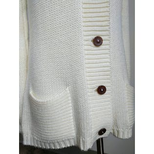 80's Long Sleeve Button Up Sweater with Pockets by Pata