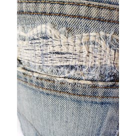 80's Perfectly Thrashed and Patched Jeans by Levi's