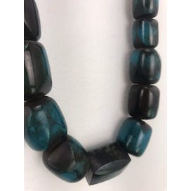 80's Blue and Black Statement Necklace