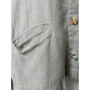 90's Linen Shell Button Coat by Via Vai