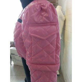 Pink and Black Snow Jacket with Detachable Sleevesby Snow Sugar