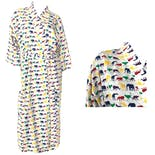 Afican Wildlife Safari Print Colorful Robe by World Wildlife Fund