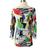 another view of Abstract Colorful Light Knit Top by Alberto Makali