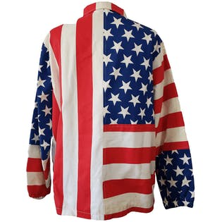 American Flag Printed Red White and Blue Jacket