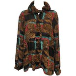 80's Multicolor Leopard Print Blouse by Fiji