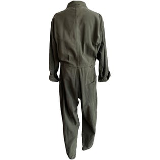 Army Green Jumpsuit with Button Detailing
