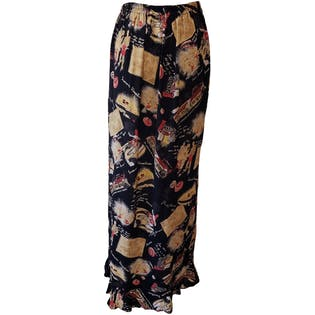 Artistic Printed Midi Skirt by Marcia's Rainbow