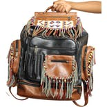Upcycled Fringe Backpack