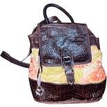 90's Leather Accented Floral Backpack by Brighton