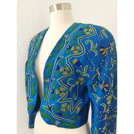 80's Beaded Cropped Jacket by Mondi