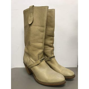 Tan Cowboy Boots with Metal Detail