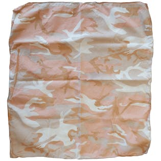 Beige and Pink Camo Bandana