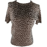 Beige Animal Print Fitted Short Sleeve Blouse by Dolce & Gabbana
