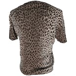 another view of Beige Animal Print Fitted Short Sleeve Blouse by Dolce & Gabbana
