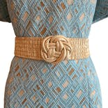 80's Gold Stretch Cinch Belt