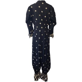 20's Antique Polka Dot Clown Suit