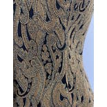 another view of Black and Gold Vest with Embroidered Graphic Designs by Antonio Fusco