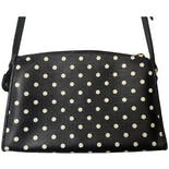 another view of Black and White Polka Dot Crossbody Purse by Liz Claiborne