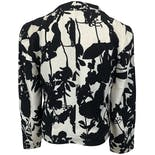 another view of Black and White Silk Floral Print Jacket by Christian Lacroix