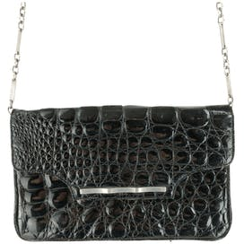 Black Alligator Crossbody Bag