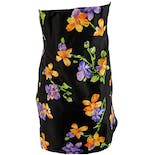 another view of Black Strapless Dress with Purple and Orange Flowers by Ralph Lauren