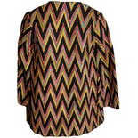 another view of Black and Rainbow Chevron Blazerby Emily Wetherby