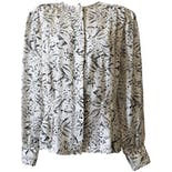 Black and White Printe Sheer Blouse by Laura and Jayne