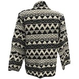 another view of Black and White Tribal Print Knit Blazer by New Identity
