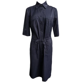 Black Button Up Dress by Rohmer