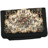 Black Floral Clutch by Walborg