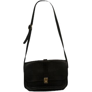 Black Leather Shoulder Bag by Michael Green