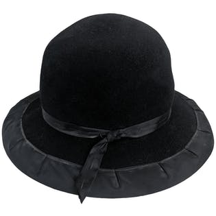 Black Rounded Hat with Bow by Albertus Swanepoel