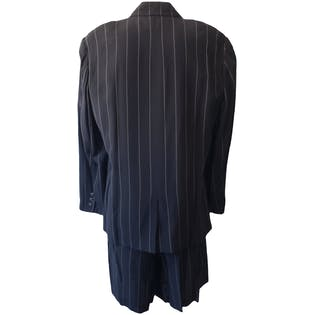 Black with White Pinstripe Blazer and Shorts Set by Liz Claiborne