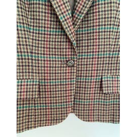 Brown Check Plaid Blazer by Ralph Lauren
