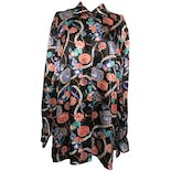 Multicolor Graphic Silk Long Sleeve Button Down by Joan Leslie