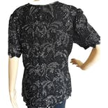 another view of 90's Beaded Paisley Silk Evening Blouse by Papell Boutique Evening