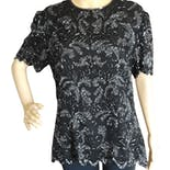 90's Beaded Paisley Silk Evening Blouse by Papell Boutique Evening