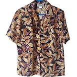 90's Classic Leaf Print Blouse by Donnkenny