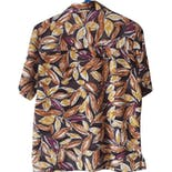 another view of 90's Classic Leaf Print Blouse by Donnkenny