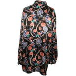 another view of Multicolor Graphic Silk Long Sleeve Button Down by Joan Leslie