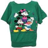 Green Short Sleeve with Multicolor Embossed Disney Characters by Sunday Comics