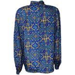 Blue and Yellow Paisley Mock Neck Blouse by Nicola