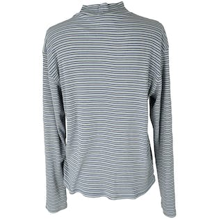 Blue Striped Turtleneck