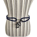 another view of Blue Woven Rope Belt