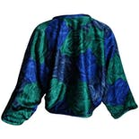 another view of Blue and Green Dolman Large Floral Jacket by Beatrice di Borbone