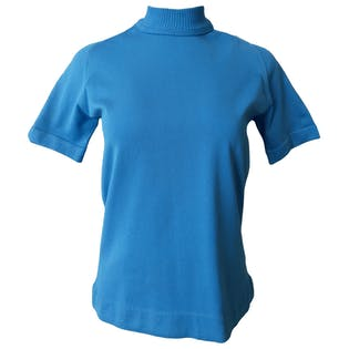 Blue Athletic Tee with Mock Neck by Sears